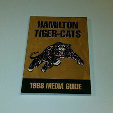 1998 HAMILTON TIGER-CATS FOOTBALL PRESS MEDIA GUIDE CFL RARE