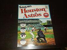 VINTAGE 1971 HOUSTON ASTROS BASEBALL DELL STAMP ALBUM BOOK W/ STAMPS