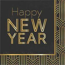Art Deco New Years Eve 16 Ct Luncheon Napkins Happy New Year