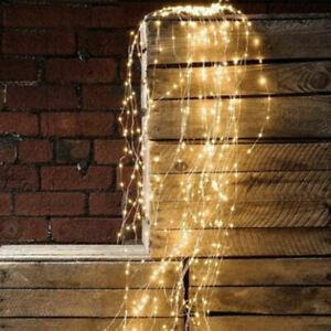 Outdoor 200 LED Lights Waterfall String Fairy Icicle Lights Party Garden Decor