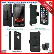 Case For Apple Iphone 8 Plus 7+ Phone Screen Protector Cover Belt Clip Holster