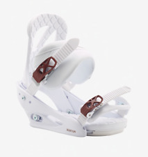 Brand New Womens 2020 Burton Stiletto Re:Flex Snowboard Bindings White