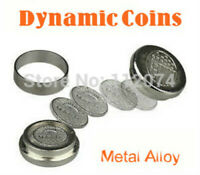 Dynamic Coins (Metal alloy) Magic Trick Coin Appearing Close Up Illusion Gimmick