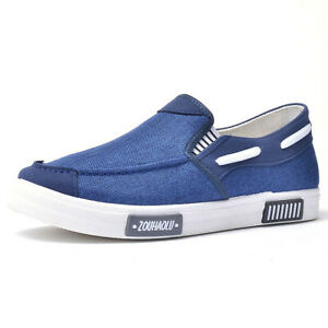 Men's Slip On Canvas Loafers Driving Moccasin Shoes Flats Sneakers Comfortable