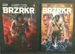 Set lot of 2 Keanu Reeves Brzrkr #1 A & B  Variant Cover Netflix Optioned 2021