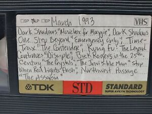 VHS tape 📼 sold as blank March 8 1993  TV recordings with commercials