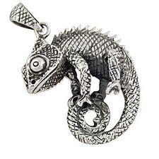 Sterling Silver (925) Gecko Pendant ( 9 Grams ) ! Brand New !