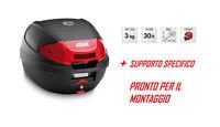 E300N2 GIVI Coffre 30LT + Porte-Bagages Pour Piaggio Fly 50 - 100 2007 2008 2009