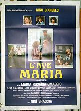 manifesto 2F film L'AVE MARIA Nino D'Angelo Maria Rosaria Omaggio 1982