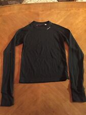 Volcom Women's Long Sleeve LS Thermal Base Layer T Shirt Top Black Sz. S Small