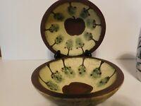 Vintage Wooden Apple Bowls Primitive/Country/Farmhouse