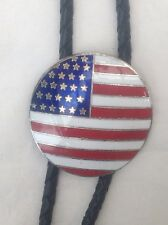 Stare And Stripe Western Bolo Tie Vintage Classic American Boot Lace Cowboy