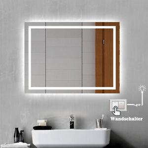 LED Wandspiegel 50x70 80x60 mit Beleuchtung Badspiegel Beschlagrei Lichtschalter