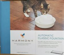Harmony Automatic Classic Pet Water Fountain for Cats ~ 50 FL OZ ~ Cat H2O Bowl