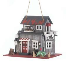 Birdhouse With Biker bar Harley motorcycle woodhouse Bird feeder decorative