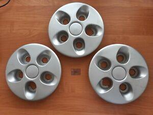 Genuine Fiat Ducato Center Wheel Hub Caps 1325078080, Set Of 3