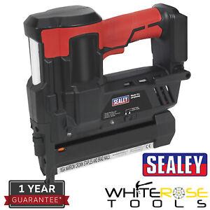 Sealey Cordless Nail Staple Gun 20V Li-ion Body Only 18 Gauge Nails Staples