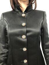 CHANEL Paris-Bombay 2012 Black Silk Jacket Coat Dress Gripoix Button Sz.S (4)
