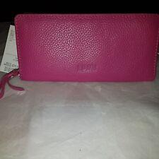 Lumi fuchsia pink leather purse bnwt