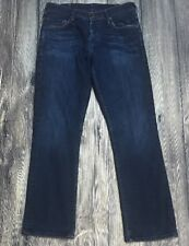 EUC True Religion Womens Dark Denim Bobby Big T Bootcut Buttonfly Jeans Size 29