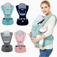 Baby Infant Carrier Breathable Ergonomic Wrap Sling Backpack Front&Back Hip Seat