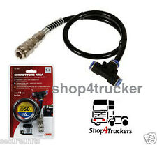 Truck Lorry HGV Compressed Air Line T-Shaped Quick Connector Extension 6 mm Hose