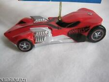 2013 HOT WHEELS RED TWIN MILL RACE CAR ORNAMENT~NWT