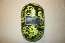 Honeywell Fibre-Metal 110PWE Pipeliner Welding Helmet  Neon Green Zombies