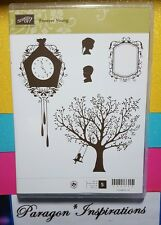 NEW Stampin Up Clear Mount FOREVER YOUNG Clock Kids Swing Tree Silhouettes