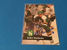 Mike Modano Stars  HOF 1990-91 Pro Set Signed Auto Card
