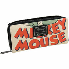 Loungefly Disney Mickey Mouse Classic Zip Faux Leather Clutch Wallet WDWA0766