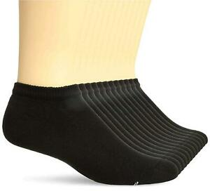 Hanes Men's Active Cool 12-Pack No Show, Black, Sock Size:, Black, Size 10.0