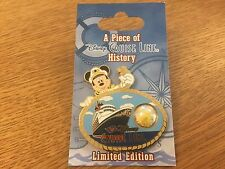 DISNEY WDW PIECE OF CRUISE LINE HISTORY PIN DISNEY WONDER MOORING ROPE ON CARD