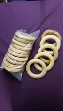 Rawhide Large Ring x10 Natural Hide Dog Chew Dental Treat