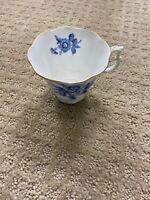 Royal Albert England Bone CHINA blue tea cup gold trim