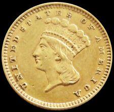 1862 Gold Us Princess Head $1 Dollar Type 3 Civil War Era Coin Au
