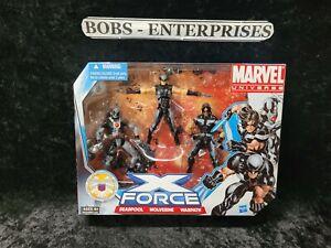 Marvel Universe XForce Deadpool Wolverine Warpath 3.75 Figures 3 Pack Set mu-11