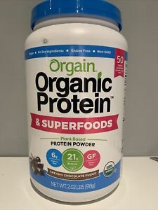 Orgain Organic Plant Protein + Superfoods Powder Creamy Chocolate Fudge 2.02 Lbs