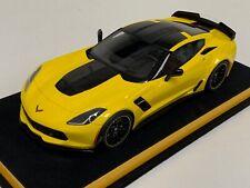 1/18 GT Spirit Chevrolet Corvette Z06 C-7 R Edition in Yellow GT171 Leather base