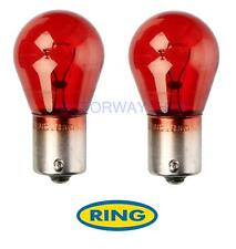 R782 2 x PR21W 12v Brake Stop Light Bulbs Pair Red 782 BAW15s Ring Ford Saab
