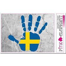 Aufkleber - Schweden - Hand - Fahne - bumper sticker - car - flag Flagge sweden