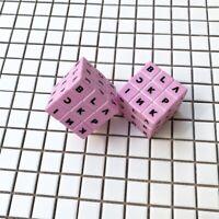 Kpop BLACKPINK Logo Cube Toy B L A C K P I N K Fan Goods