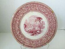 ANTIQUE E. CHALLINOR PINK PLATE PATT. DORA - Ca. 1856