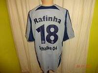 FC Schalke 04 Original Adidas Ausweich Trikot 2005/06 + Nr.18 Rafinha Gr.L TOP