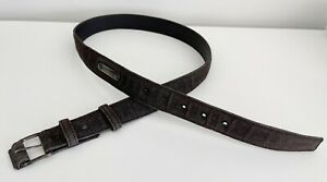 Vintage Original HELMUT LANG Classic Men's Brown Cotton Denim Belt