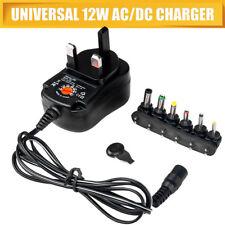 Universal 12W AC/DC Power Charger 6 Adapter Heads 3v 4.5v 6v 7.5v 9v 12v UK