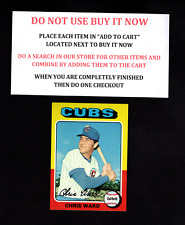 1975 TOPPS BASEBALL SELECT FROM OUR LIST #501 TO #600