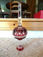 Waterford Glass Crystal Clear Clarendon Cased Ruby Red Christmas Tree Topper