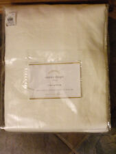"""POTTERY BARN EMERY LINEN/ COTTON LINED 96"""" PANEL IN WHITE   NEW"""