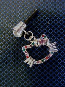 Hello Kitty Multicolors gem stone Cell Phone Dust Plug